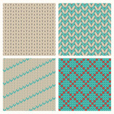 Seamless Knitting Patterns Set. Background. Vector illustration