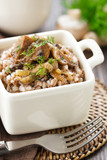 Buckwheat porridge with mushrooms.