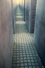 stone blocks Jewish memorial in Berlin
