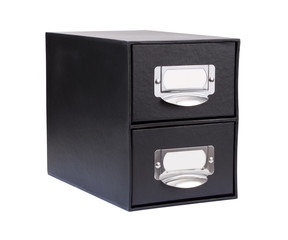 Black Cardboard File Drawer