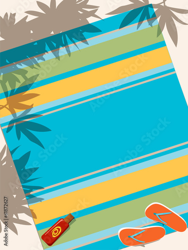 Beach towel vector background