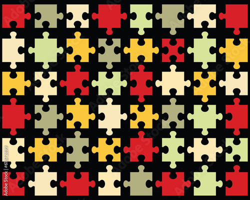 Background of colorful modern puzzle, vector illustration