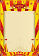 yellow and red grunge circus poster
