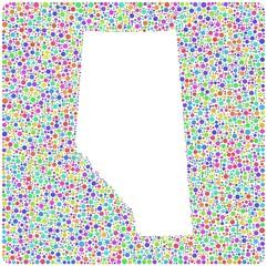 Map of Alberta - Canada - into a square icon