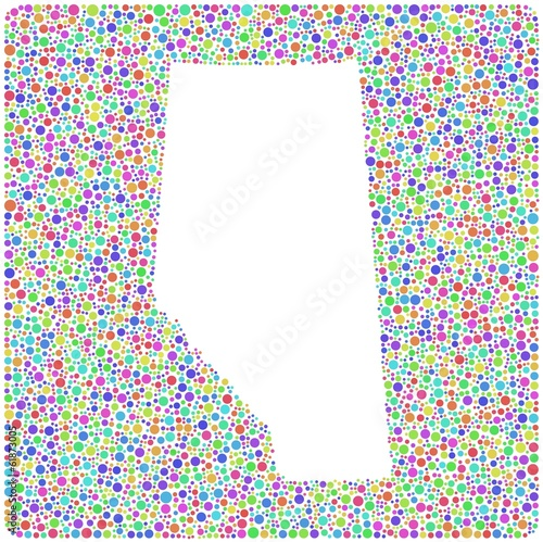 Map of Alberta - Canada - into a square icon