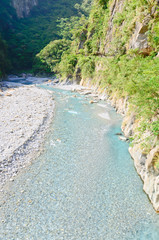 River in Toroko Gorge Marble Canyon in Taiwan