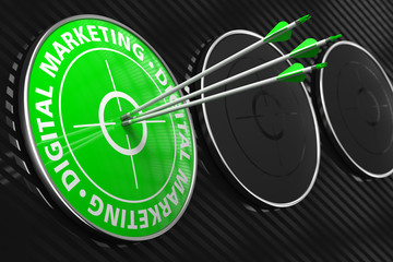 Digital Marketing Concept - Green Target.