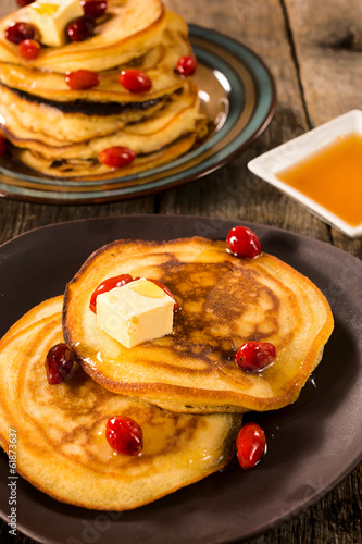 Honey and butter pancakes