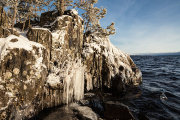 Ice rock lakefront
