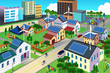 Green environment friendly city scene