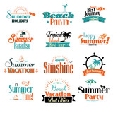 Retro summer badge