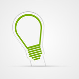 Light bulb vector sticker