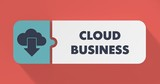 Cloud Business Concept in Flat Design.