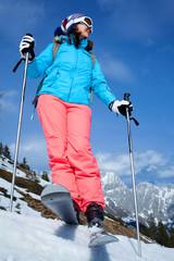 female skier