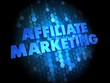 Affiliate Marketing Concept on Digital Background.