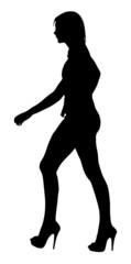 Image of a Long Legged Teenage Girl Model Walking