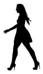 Image of a Long Legged Teenage Girl Model Walking