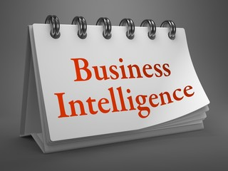 Business Intelligence Concept on Desktop Calendar.