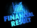 Financial Result Concept on Digital Background.