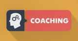 Coaching Concept in Flat Design.