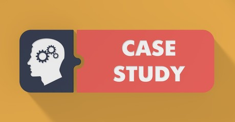 Case Study Concept in Flat Design.