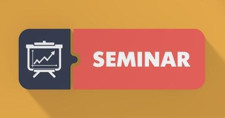 Seminar Concept in Flat Design.