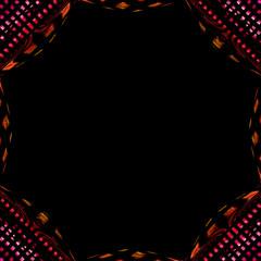 fantastic illustrated glass background pattern