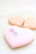 heart shaped icing cookie