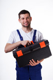 Man with toolbox