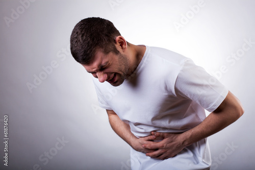 Man with stomachache