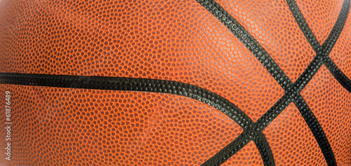 leather basketball as a background - 61876489