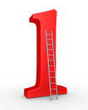Number one symbol and a ladder
