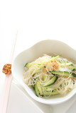 chinese food, gelatin noodles with cucumber