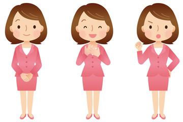 女性/表情・ポーズ セット