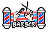 Barber sticker