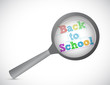 back to school magnify illustration design