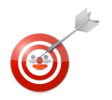 selected target candidate illustration design