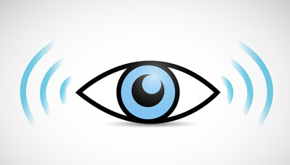 eye wifi illustration design