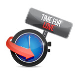 time for love concept illustration design