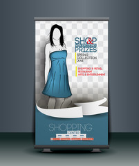 Shopping Store Roll Up Banner Design