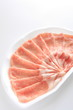 japanese food, sliced pork for shabu shabu