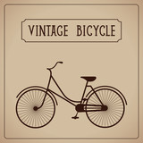 Vintage bicycle silhouette vector illustration