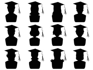 graduation head icons