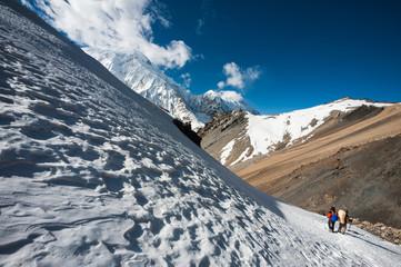Trekking in the Annapurna region, Himalayas of Nepal.