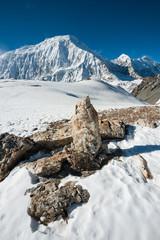 Tilicho peak (7134m) in Annapurna region, Nepal.