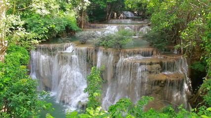 Huay mae kamin waterfall at Kanchanaburi Thailand