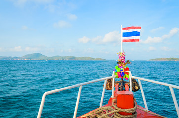 Thai flag on the boat