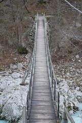 Suspension Bridge over Soca River