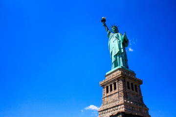 Statue of Liberty with Clear Blue Sky