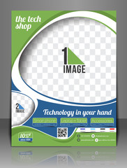 The Tech Shop Front Flyer & Poster Template.